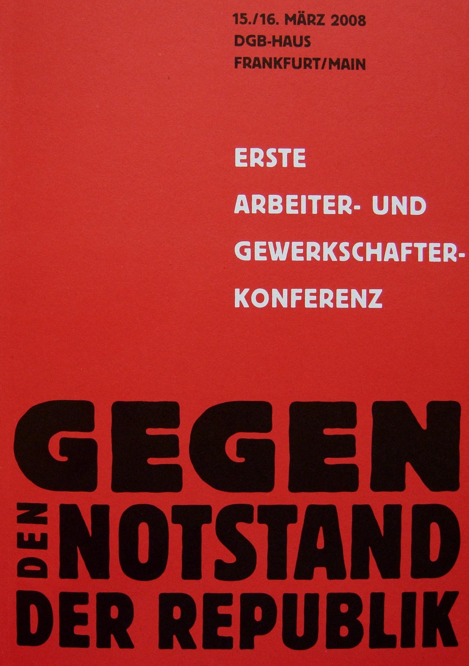 Bild der Broschüre der ersten Konferenz