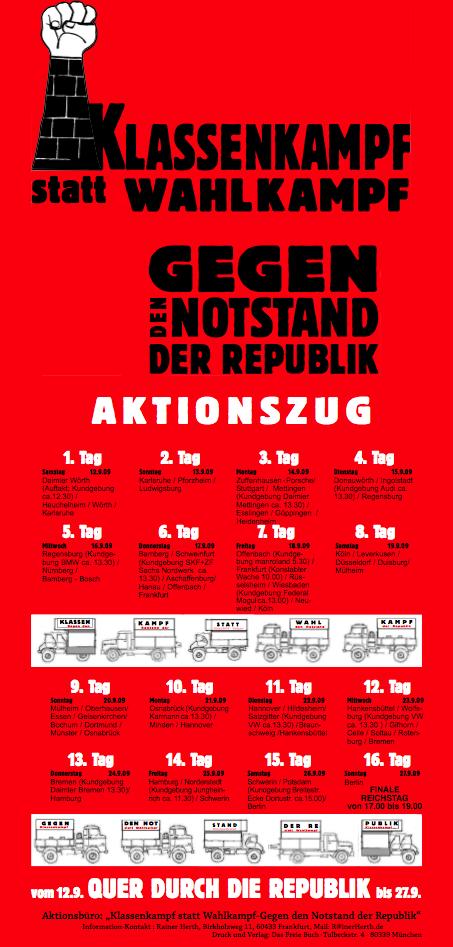 "Bild mit dem Logo der Aktion ""Klassenkampf statt Wahlkampf! Gegen den Notstand der Republik!"""